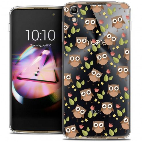 Coque Crystal Gel Alcatel Idol 4 Extra Fine Summer - Hibou