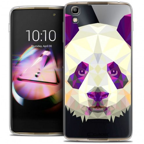 Coque Crystal Gel Alcatel Idol 4 Extra Fine Polygon Animals - Panda