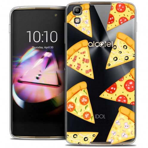 Coque Crystal Gel Alcatel Idol 4 Extra Fine Foodie - Pizza