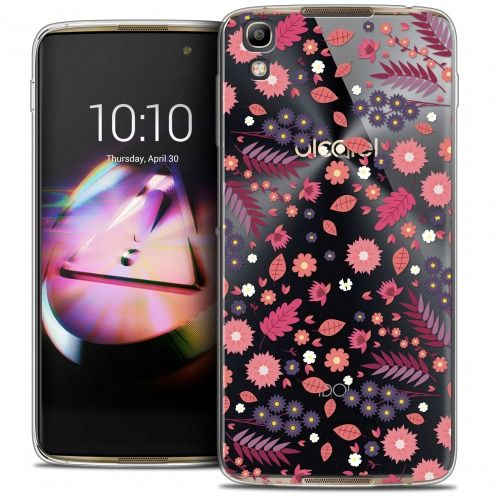 Coque Crystal Gel Alcatel Idol 4 Extra Fine Spring - Floraison