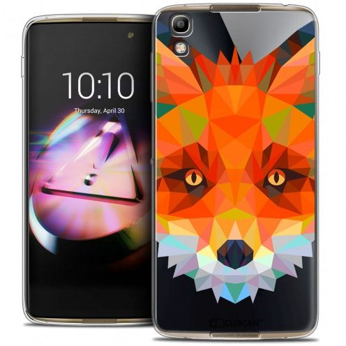 Coque Crystal Gel Alcatel Idol 4 Extra Fine Polygon Animals - Renard