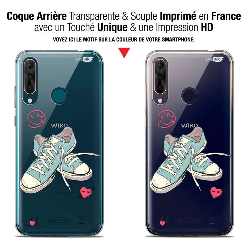 """Coque Gel Wiko View 3 PRO (6.3"""") Extra Fine Motif - Mes Sneakers d'Amour"""