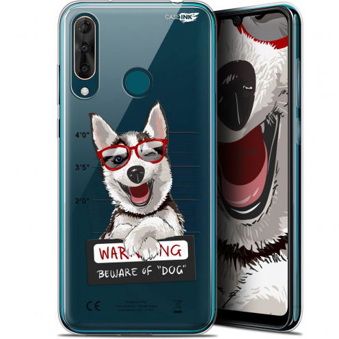 "Coque Gel Wiko View 3 PRO (6.3"") Extra Fine Motif - Beware The Husky Dog"