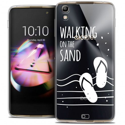 Coque Crystal Gel Alcatel Idol 4 Extra Fine Summer - Walking on the Sand