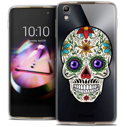Coque Crystal Gel Alcatel Idol 4 Extra Fine Skull - Maria's Flower