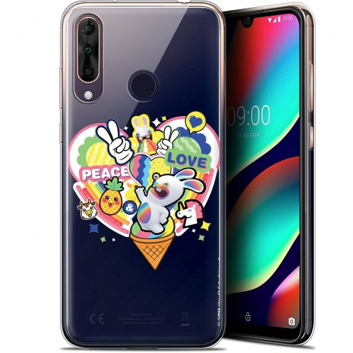 """Coque Gel Wiko View 3 PRO (6.3"""") Extra Fine Lapins Crétins™ - Peace And Love"""
