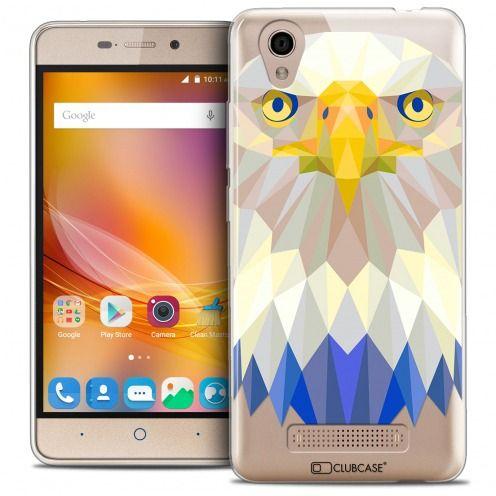 Coque Crystal Gel ZTE A452 Extra Fine Polygon Animals - Aigle