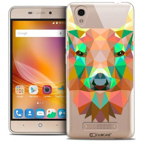 Coque Crystal Gel ZTE A452 Extra Fine Polygon Animals - Cerf