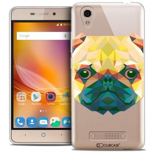 Coque Crystal Gel ZTE A452 Extra Fine Polygon Animals - Chien