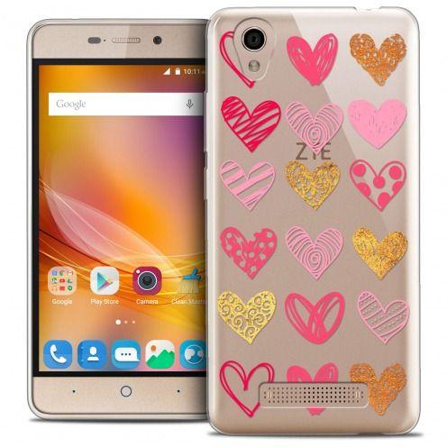 Coque Crystal Gel ZTE A452 Extra Fine Sweetie - Doodling Hearts