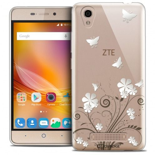Coque Crystal Gel ZTE A452 Extra Fine Summer - Papillons