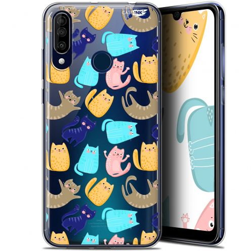 "Coque Gel Wiko View 3 (6.26"") Extra Fine Motif - Chat Danse"