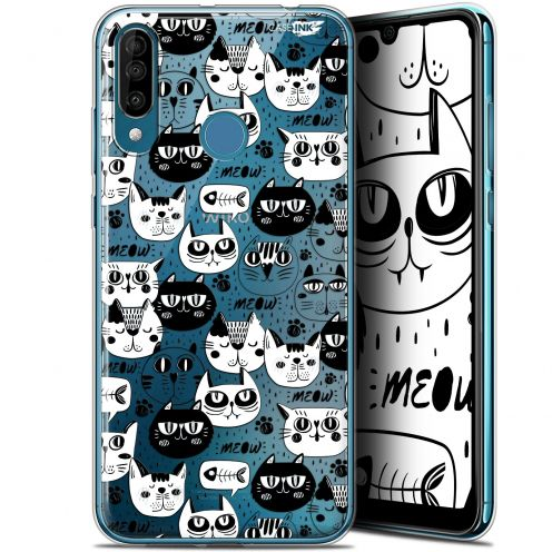 """Coque Gel Wiko View 3 (6.26"""") Extra Fine Motif - Chat Noir Chat Blanc"""