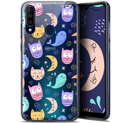 """Coque Gel Wiko View 3 (6.26"""") Extra Fine Motif -  Chat Hibou"""
