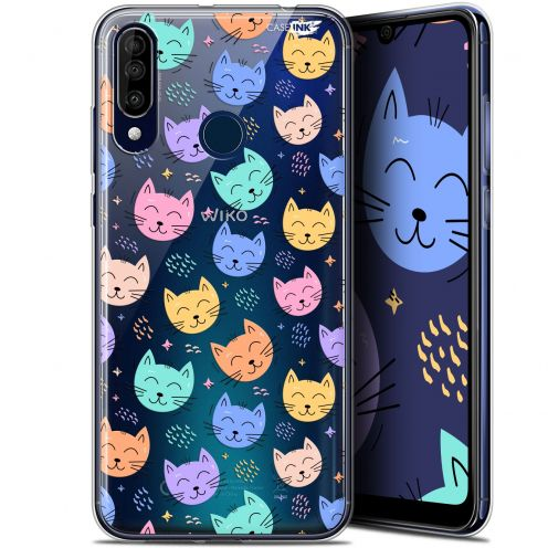 """Coque Gel Wiko View 3 (6.26"""") Extra Fine Motif -  Chat Dormant"""