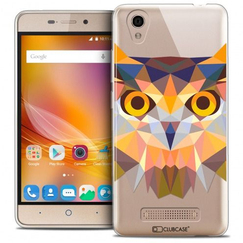 Coque Crystal Gel ZTE A452 Extra Fine Polygon Animals - Hibou