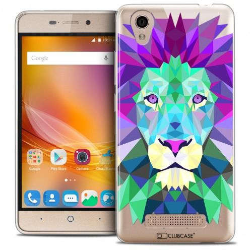 Coque Crystal Gel ZTE A452 Extra Fine Polygon Animals - Lion