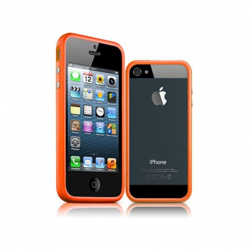 Photo réelle de Coque Bumper iPhone 5 - 5S HQ Orange