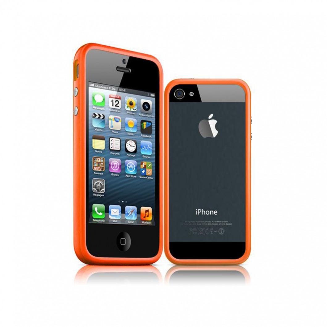 coque housse etui bumper pour iphone 5 5s se hq orange av ebay. Black Bedroom Furniture Sets. Home Design Ideas