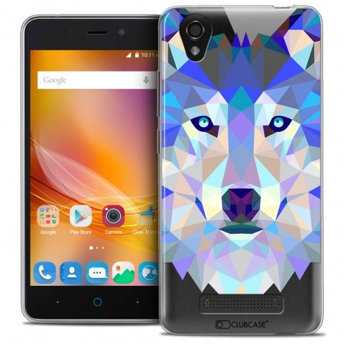 Coque Crystal Gel ZTE A452 Extra Fine Polygon Animals - Loup