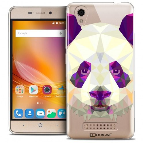Coque Crystal Gel ZTE A452 Extra Fine Polygon Animals - Panda