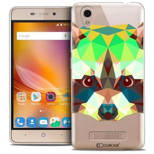 Coque Crystal Gel ZTE A452 Extra Fine Polygon Animals - Raton Laveur
