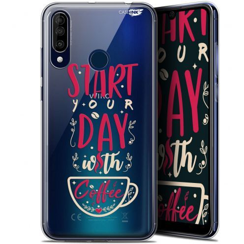 """Coque Gel Wiko View 3 (6.26"""") Extra Fine Motif - Start With Coffee"""