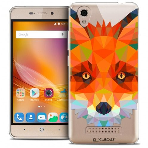 Coque Crystal Gel ZTE A452 Extra Fine Polygon Animals - Renard