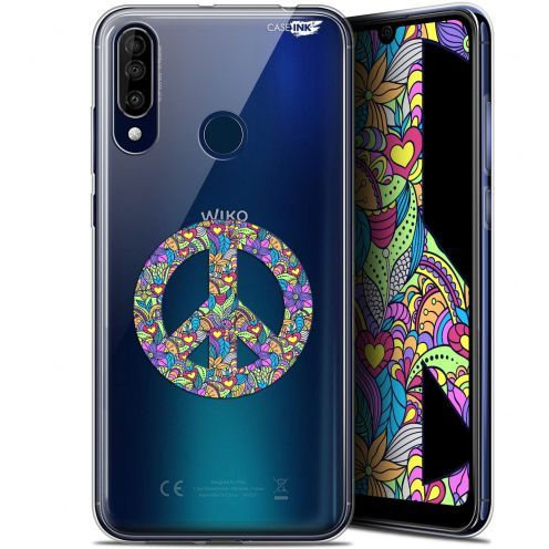 """Coque Gel Wiko View 3 (6.26"""") Extra Fine Motif - Peace And Love"""