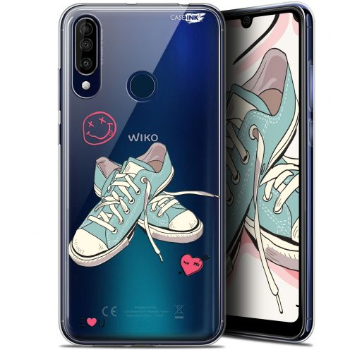 "Coque Gel Wiko View 3 (6.26"") Extra Fine Motif - Mes Sneakers d'Amour"