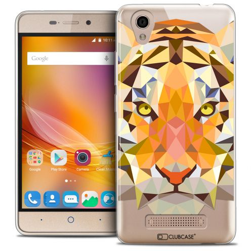 Coque Crystal Gel ZTE A452 Extra Fine Polygon Animals - Tigre