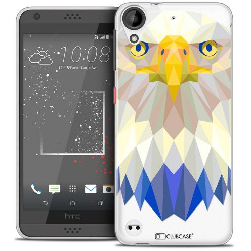 Coque Crystal Gel HTC Desire 530/630 Extra Fine Polygon Animals - Aigle