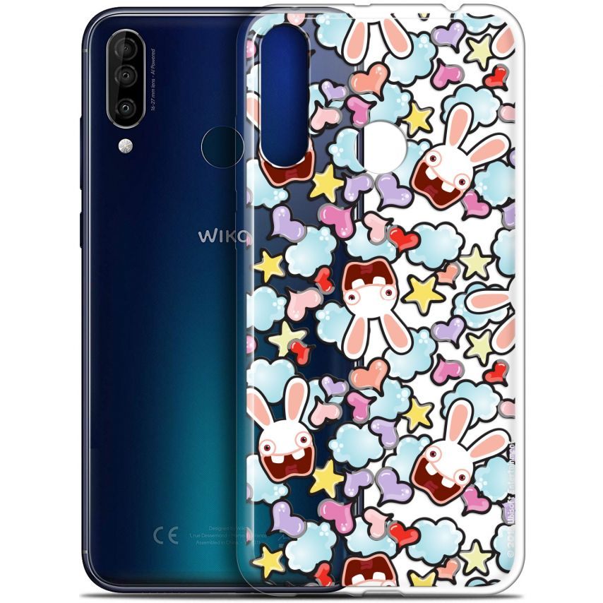 """Coque Gel Wiko View 3 (6.26"""") Extra Fine Lapins Crétins™ - Love Pattern"""