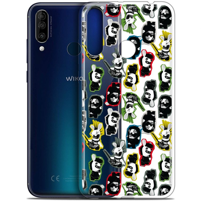 """Coque Gel Wiko View 3 (6.26"""") Extra Fine Lapins Crétins™ - Punk Pattern"""