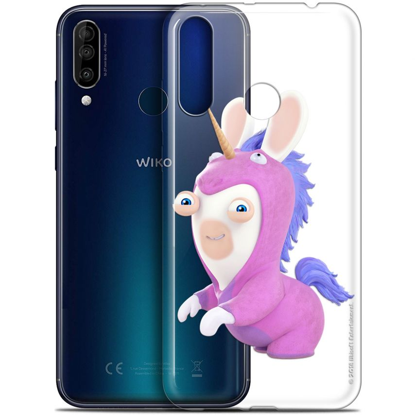"""Coque Gel Wiko View 3 (6.26"""") Extra Fine Lapins Crétins™ - Licorne"""