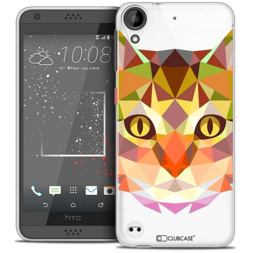 Coque Crystal Gel HTC Desire 530/630 Extra Fine Polygon Animals - Chat