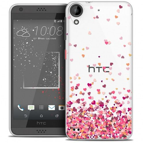 Coque Crystal Gel HTC Desire 530/630 Extra Fine Sweetie - Heart Flakes