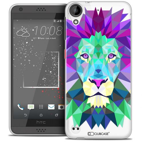 Coque Crystal Gel HTC Desire 530/630 Extra Fine Polygon Animals - Lion