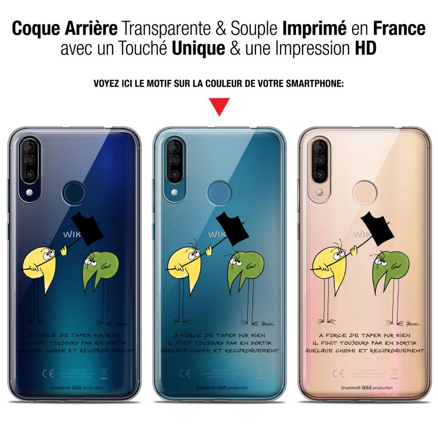 """Coque Gel Wiko View 3 (6.26"""") Extra Fine Les Shadoks® - A Force"""