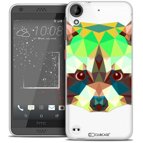Coque Crystal Gel HTC Desire 530/630 Extra Fine Polygon Animals - Raton Laveur