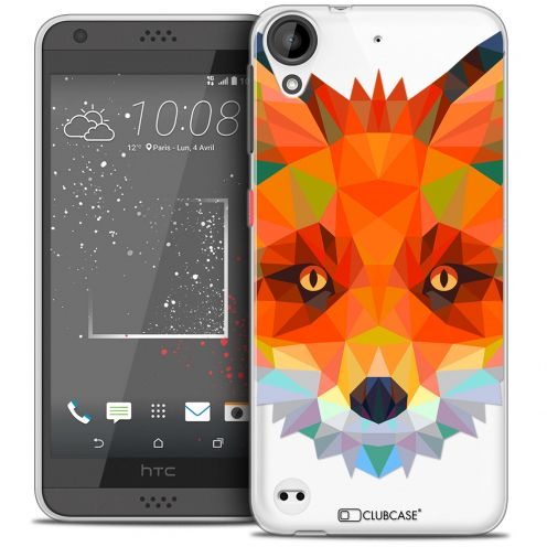Coque Crystal Gel HTC Desire 530/630 Extra Fine Polygon Animals - Renard