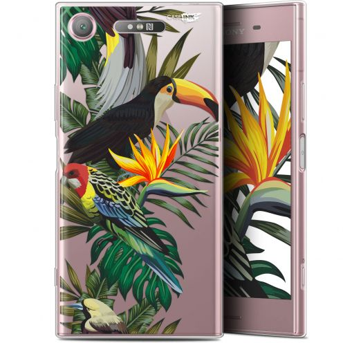 "Coque Gel Sony Xperia XZ1 (5.2"") Extra Fine Motif - Toucan Tropical"