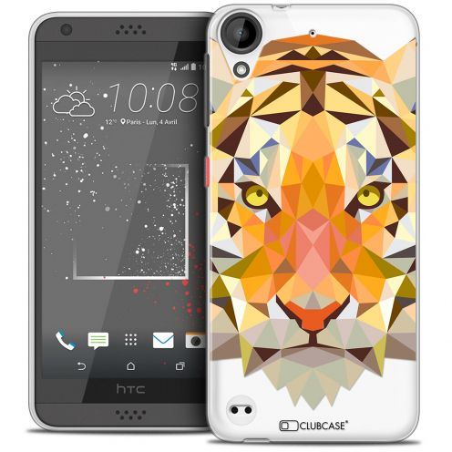 Coque Crystal Gel HTC Desire 530/630 Extra Fine Polygon Animals - Tigre