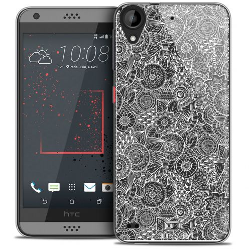 Coque Crystal Gel HTC Desire 530/630 Extra Fine Texture Dentelle Florale - Blanche