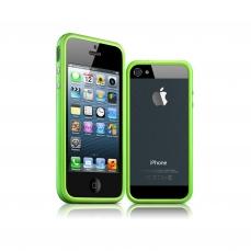Vue complémentaire de Coque Bumper iPhone 5 - 5S HQ Vert