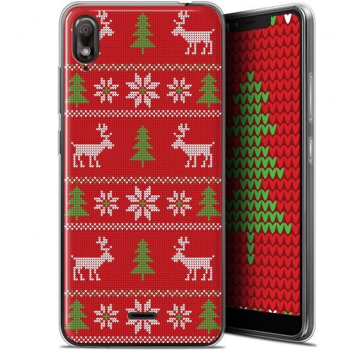 """Coque Gel Wiko View 2 GO (5.93"""") Extra Fine Noël 2017 - Couture Rouge"""