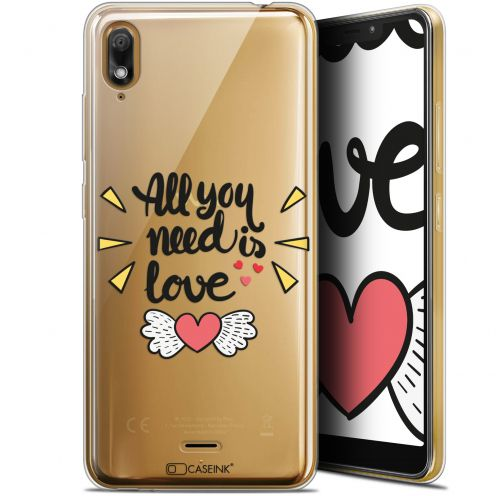 """Coque Gel Wiko View 2 GO (5.93"""") Extra Fine Love - All U Need Is"""