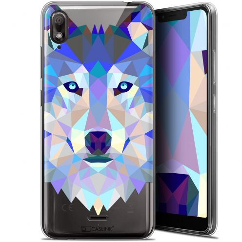 "Coque Gel Wiko View 2 GO (5.93"") Extra Fine Polygon Animals - Loup"