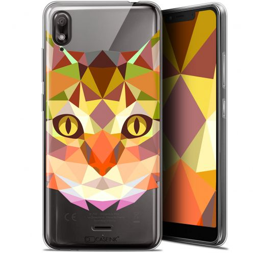 "Coque Gel Wiko View 2 GO (5.93"") Extra Fine Polygon Animals - Chat"