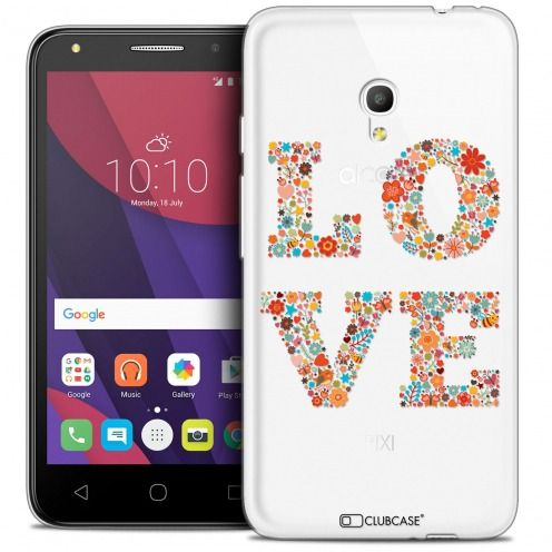 "Coque Crystal Gel Alcatel Pixi 4 5.0"" (5045X) Extra Fine Summer - Love Flowers"